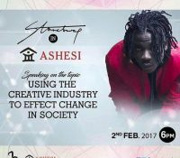 STONEBWOY TO LECTURE @ ASHESI UNIVERSITY ON FEB. 2