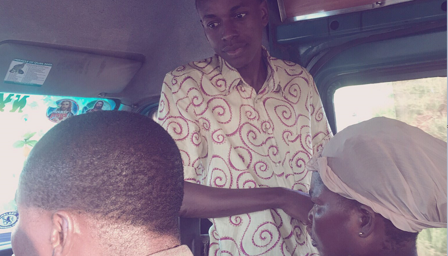 Photo of PHOTOS: FORMER HIPLIFE STAR YAW SIKI SPOTTED PREACHING IN A COMMERCIAL VEHICLE