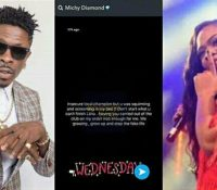 """Insecure Local Champion But…"" – Shatta Michy Fires Shatta Wale After He Kissed A Lady On Her Birthday To Mock Her"
