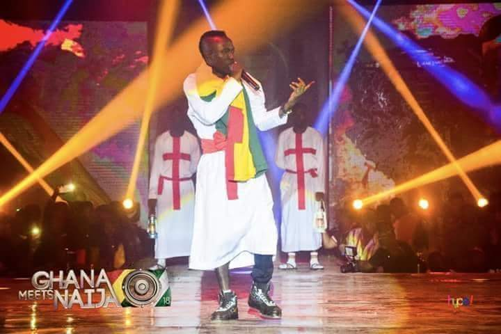 Photo of Bola Ray reacts to Patapeezy's performance at Ghana meets Naija 2018 concert