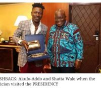 Akufo Addo shuns Shatta Wale after BJ incident, unfollows him on twitter