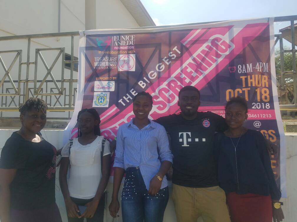 Photo of Eunice Asiedu Foundation holds Free Breast Screening Exercise for young people