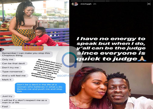 Photo of Shatta Michy Elopes with Majesty + Screenshots of Conversation Between Wale And His Girlfriend
