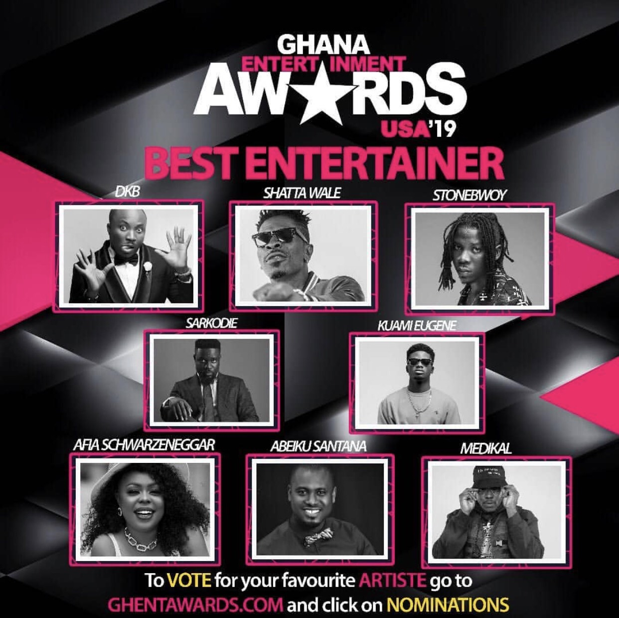 Photo of NOMINATIONS FOR 2019 GHANA ENTERTAINMENT AWARDS USA REVEALED | SEE FULL LIST