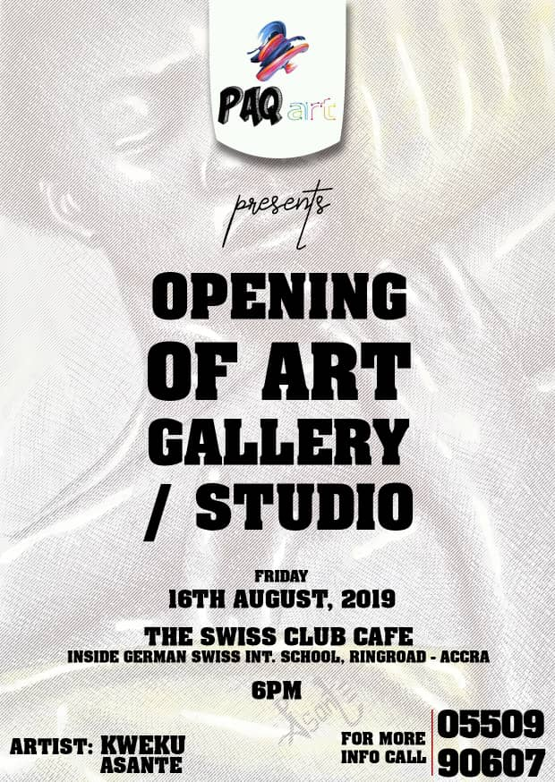 """Photo of The Swiss Club In Collaboration With Kweku Asante Invites To The """"Opening Of The Art Gallery & Studio"""""""