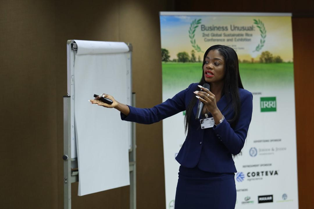 Photo of Ghanaian Top Model Prisca Abah Storms Sustainable Rice Platform Conference In Thailand.