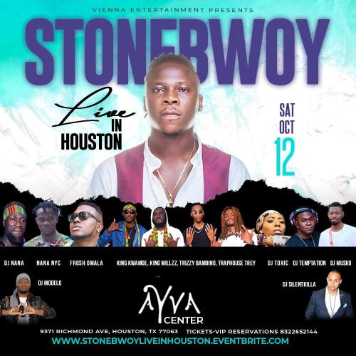 Photo of Stonebwoy, Nana NYC and Others To Perform At AYVA Center In Houston
