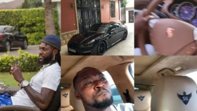 Photo of Emmanuel Adebayor gifts Funny Face a brand new Porsche Panamera & he storms town with it