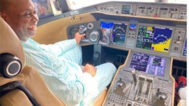 Photo of Check out how much Davido's father's latest private jet costs