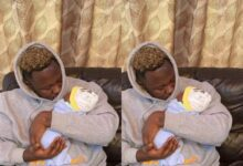 Photo of Medikal shares first adorable photos of his daughter