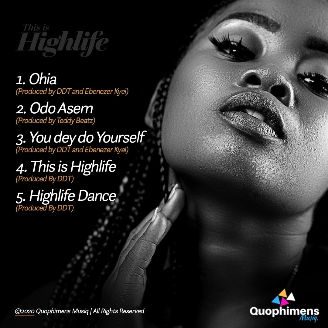 "NaaNa Blu releases official album cover and track list of her maiden EP ""This Is Highlife"""